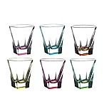Lorren Home Trends Fusion Double Old Fashioned Glasses in Multi (Set of 6)