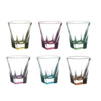 Lorren Home Trends Fusion Shot Glasses in Multi (Set of 6)