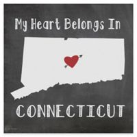 """Thirstystone® """"My Heart Belongs in Connecticut"""" Coasters (Set of 4)"""