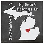 "Thirstystone® ""My Heart Belongs in Michigan"" Coasters (Set of 4)"