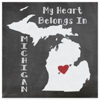 "Thirstystone® ""My Heart Belongs in Michigan"" Coasters (Set of 4)"