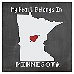 "Thirstystone® ""My Heart Belongs in Minnesota"" Coasters (Set of 4)"