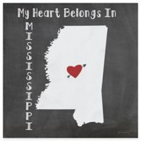 """Thirstystone® """"My Heart Belongs in Mississippi"""" Coasters (Set of 4)"""