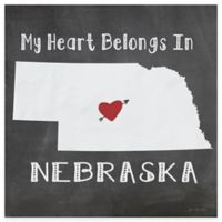 """Thirstystone® """"My Heart Belongs in Nebraska"""" Coasters (Set of 4)"""