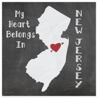 "Thirstystone® ""My Heart Belongs in New Jersey"" Coasters (Set of 4)"