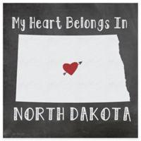 "Thirstystone® ""My Heart Belongs in North Dakota"" Coasters (Set of 4)"
