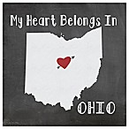 "Thirstystone® ""My Heart Belongs in Ohio"" Coasters (Set of 4)"