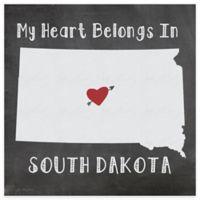 "Thirstystone® ""My Heart Belongs in South Dakota"" Coasters (Set of 4)"