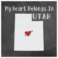 """Thirstystone® """"My Heart Belongs in Utah"""" Coasters (Set of 4)"""