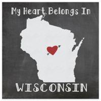 "Thirstystone® ""My Heart Belongs in Wisconsin"" Coasters (Set of 4)"