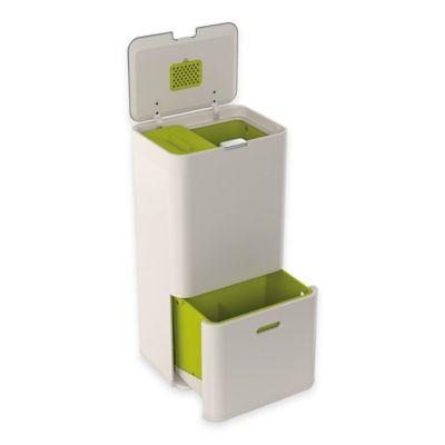 Joseph Joseph® IntelligentWaste® Totem 60 Liter Waste Separation/Recycling Unit in Stone