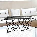Mesa French Loop 8-Bottle Wine Rack in Antique Black