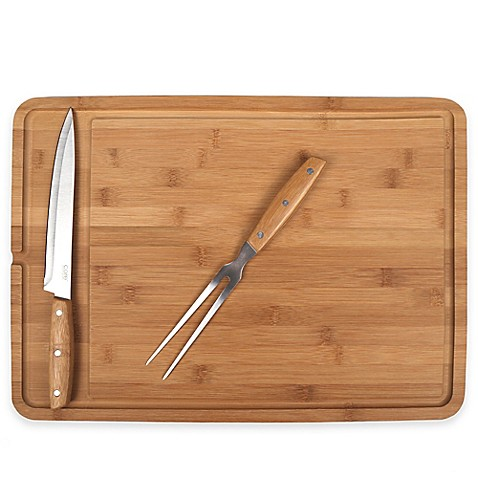 3 Piece Bamboo Carving Board Set Bed Bath Amp Beyond