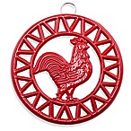Old Dutch International Two-Tone Rooster Trivet in Red