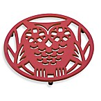 Old Dutch International Wise Owl Trivet in Tango Red