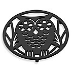 Old Dutch International Wise Owl Trivet in Matte Black