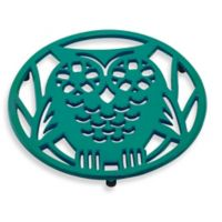 Old Dutch International Wise Owl Trivet in Emerald Green
