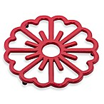 Old Dutch International Bloom Trivet in Tango Red