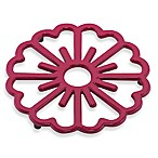 Old Dutch International Bloom Trivet in Pink/Berry