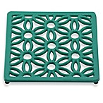 Old Dutch International Flora Square Trivet in Emerald Green