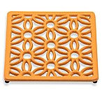 Old Dutch International Flora Square Trivet in Butterscotch
