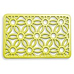 Old Dutch International Flora Rectangular Trivet in Oasis Green