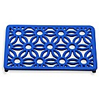Old Dutch International Flora Rectangular Trivet in Dazzling Blue