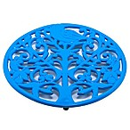 Old Dutch International Tree of Life Trivet in Blue Aster