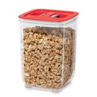 Oggi™ 59 oz. Stack-N-Store Square Canister with Red Lid