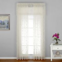 Coventry 84-Inch Window Curtain Panel with Trim in Ivory