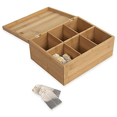 Bamboo Tea Box Bed Bath And Beyond