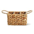 Water Hyacinth Hand Woven 3-Part Cutlery Caddy