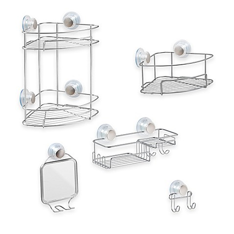 Bathroom Accessories With Suction Cups interdesign® turn-n-lock suction shower accessories - bed bath