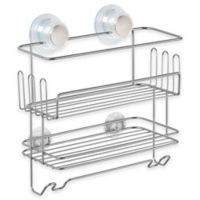 InterDesign® Turn-N-Lock 2-Tier Suction Shelf