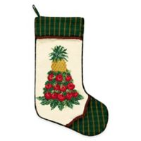 Needlepoint 18-Inch Apple Cone Cotton Christmas Stocking