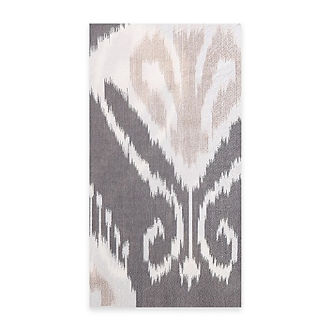 Bansuri 16 count paper guest towels in gray bed bath - Disposable guest towels for bathroom ...