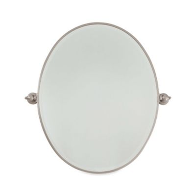 Minka Lavery 25 5 Inch X 32 Oval Mirror In Brushed Nickel