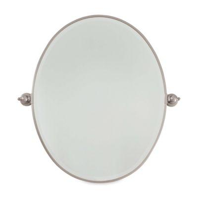 Bathroom Mirrors Brushed Nickel buy brushed nickel bathroom mirrors from bed bath & beyond