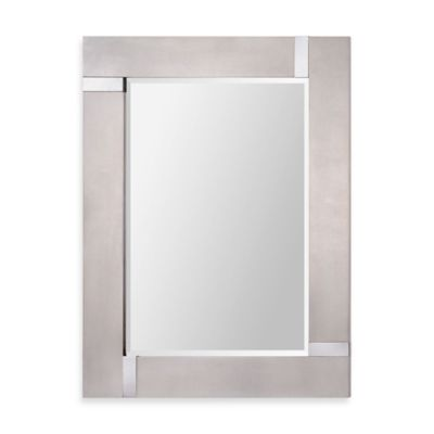 Ren Wil 30 Inch X 40 Capiz Rectangular Mirror In Silver
