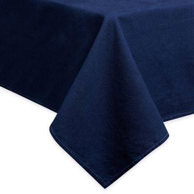 Mediterranean Living Dip Dye Tablecloth In Blue