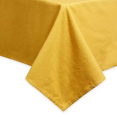Mediterranean Living Dip Dye Tablecloth In Yellow