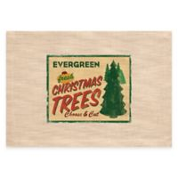 """Heritage Lace® Signs of Christmas """"Homestead Tree Farm"""" Placemat in Evergreen"""