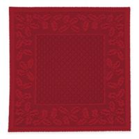 Heritage Lace® Holly Vine 36-Inch Square Table Topper in Red