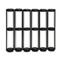 Danya B. Six-Tube Hinged Vases on Ring Stands in Black