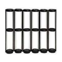 Danya B. Tall Six-Tube Hinged Vase in Black