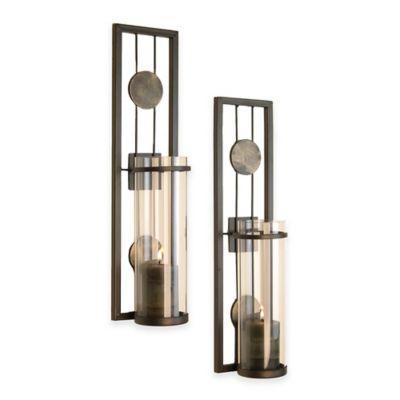 Wall Sconces Bed Bath Beyond : Danya B Contemporary Wall Sconce with Medallions (Set of 2) - Bed Bath & Beyond
