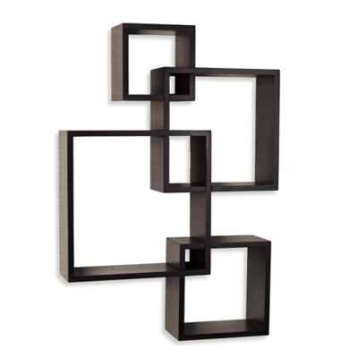 Danya B™ Intersecting Cube Shelves in Laminated Espresso