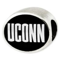 Sterling Silver Collegiate University of Connecticut Antiqued Charm Bead