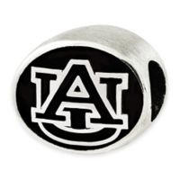 Sterling Silver Collegiate Auburn University Antiqued Charm Bead