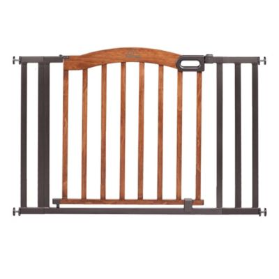 HOMESAFETM By Summer InfantR Decorative Wood And Metal 5 Foot Pressure Mounted Gate